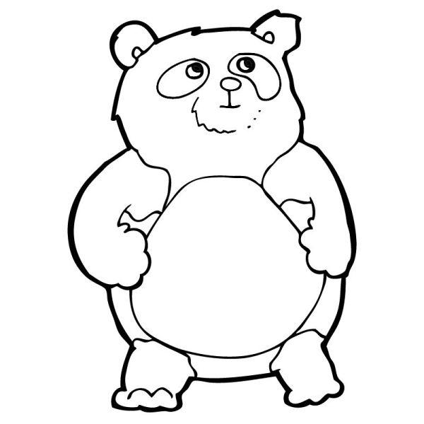 panda para colorir fofinhos