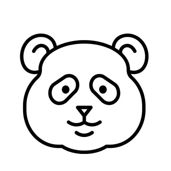 carinha do panda para colorir