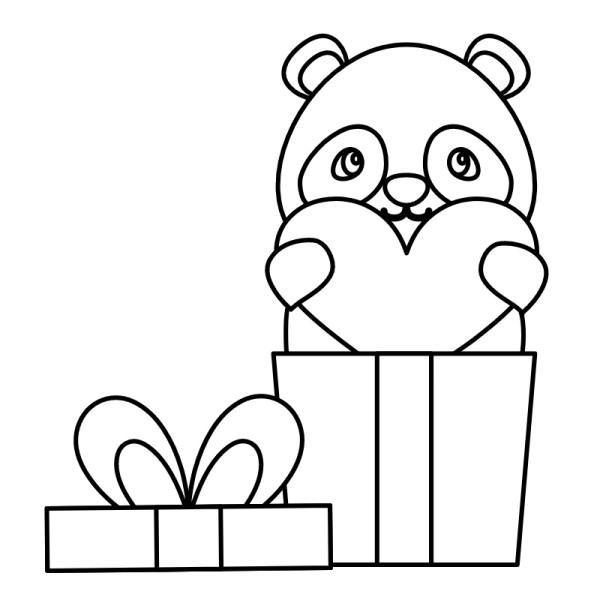 desenhos mais fofos de panda para colorir