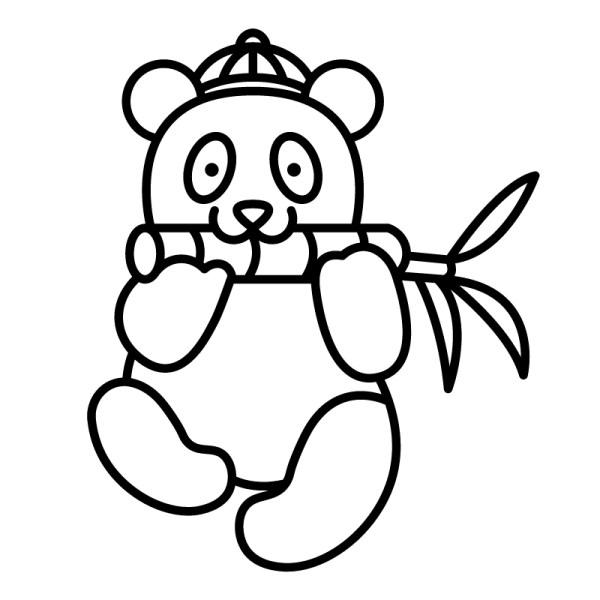 pandas de desenhos do kawaii colorir