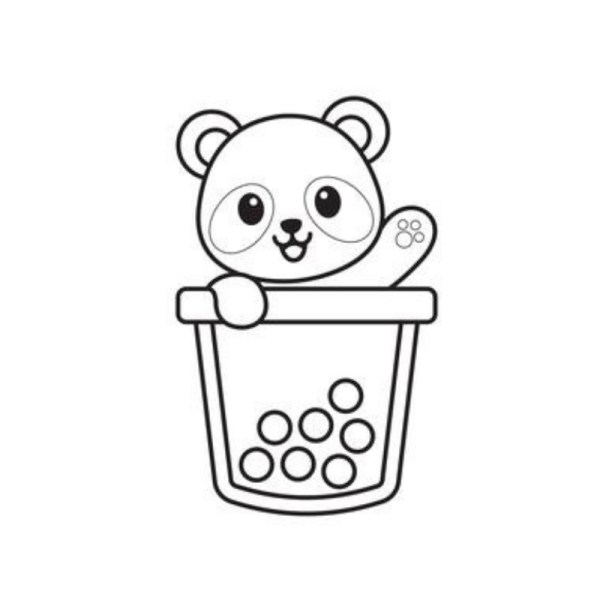 panda para colorir fácil