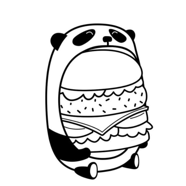 desenhos fofos de panda para colorir