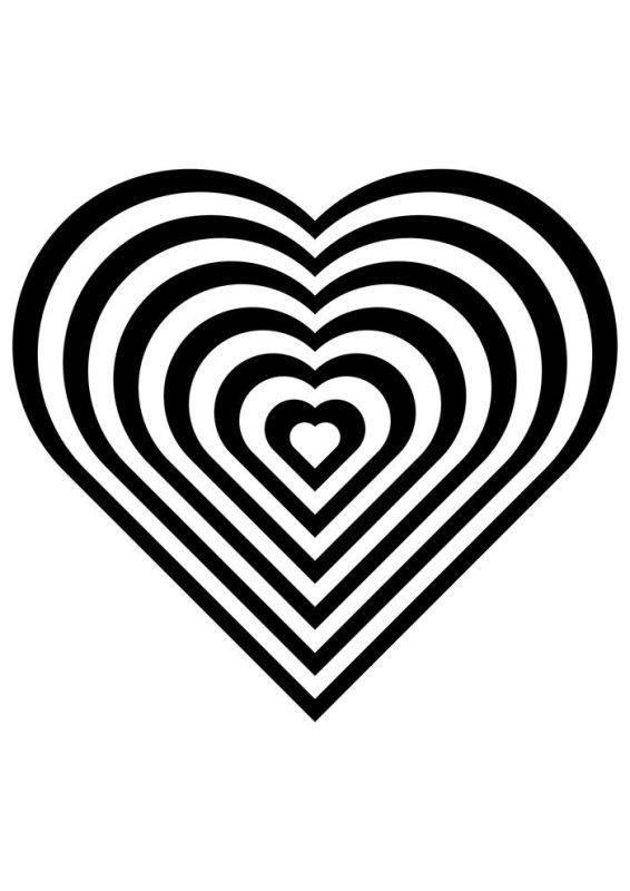 Desenhos de coração para colorir gracioso
