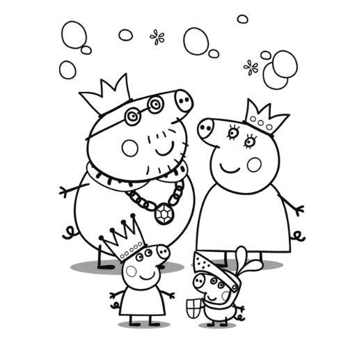 peppa pig para colorir família real