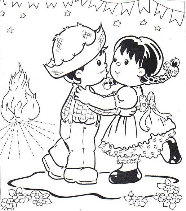 Desenhos de festa junina para colorir divresão