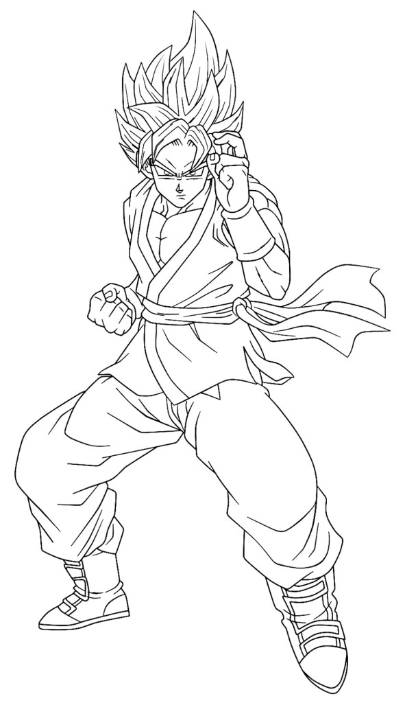 Desenhos do Goku para imprimir