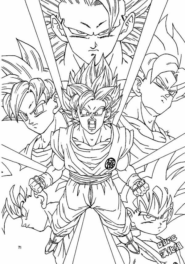 Desenhos do Goku várias versões