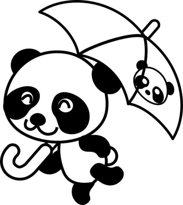 desenhos de panda kawaii