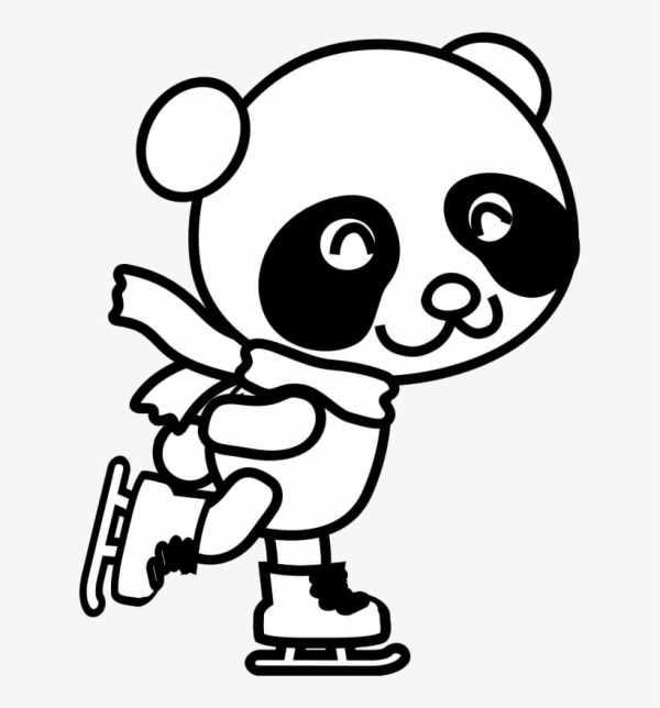 pandas fofos para colorir da kawaii