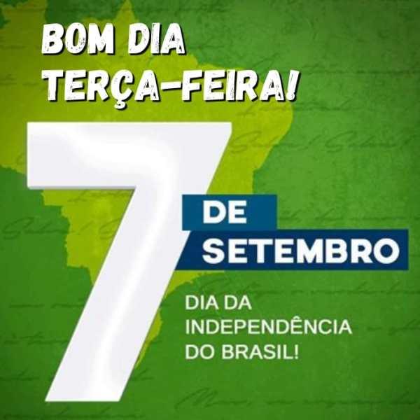 Frase de bom dia para a independência do Brasil