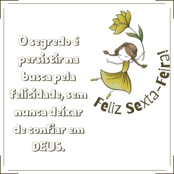 feliz sexta feira confiando em Deus