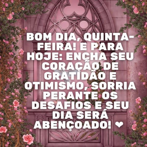 Encha a sua alma e coração de gratidão, sorrisos e alegria