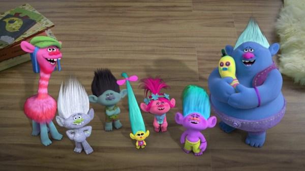 Os pequenos e fofos personagens do filme Trolls