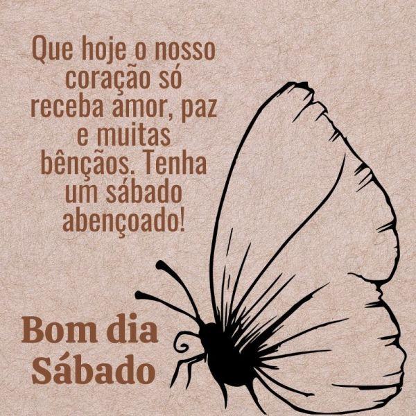 bela borboleta de bom dia sábado