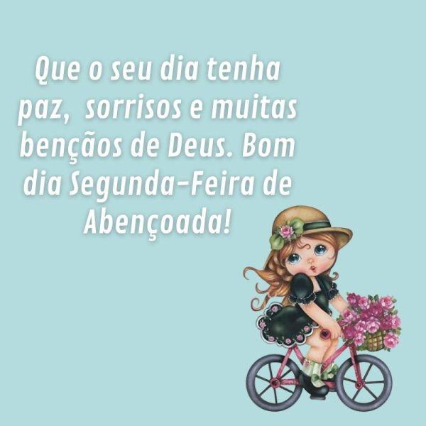 menina linda de bicicleta em bom dia segunda feira