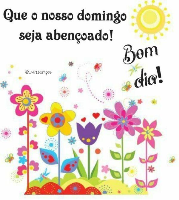 Imagem de feliz domingo com flores