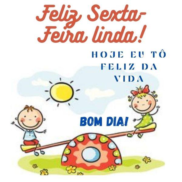 Feliz sexta feira de paz e alegria