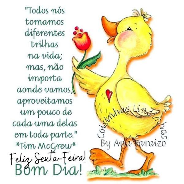 alegre pato para desejar feliz sexta