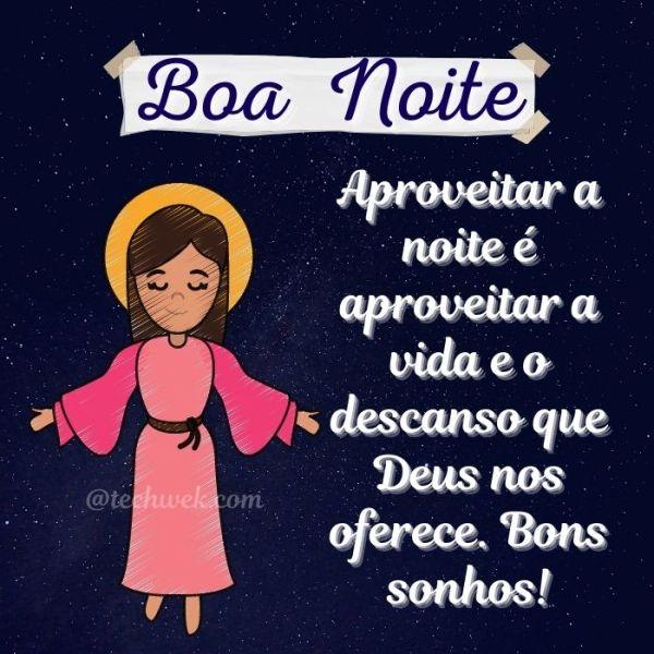 Imagens com mensagens de Deus para desejar boa noite
