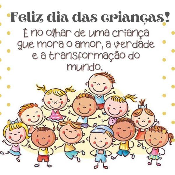 perfeito e feliz dia das crianças