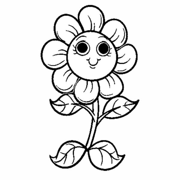 Flor para se divertir colorindo