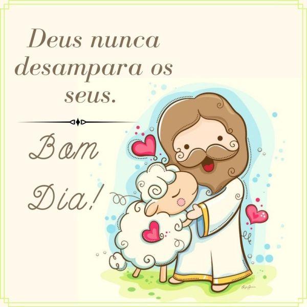 bom dia abraçado com Deus