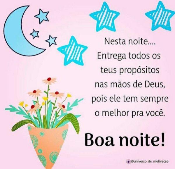 Boa noite entrega tudo nas mãos de Deus