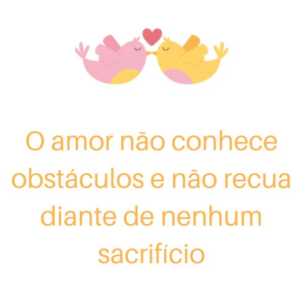 o amor supera obstáculos