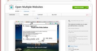 open multiple websites chrome extension screenshot