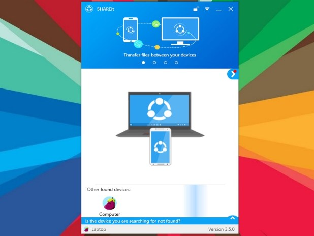 SHAREit Wifi file transfer