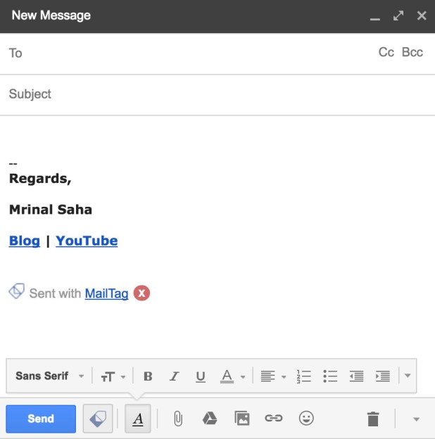 send mail with MailTag