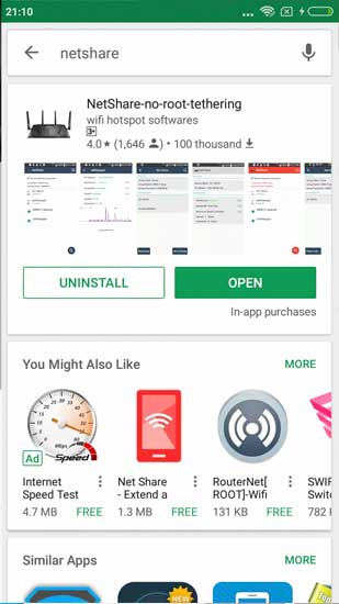 Share WiFi from Android to Android