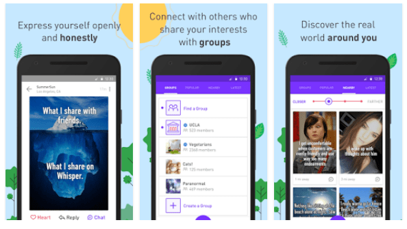 whisper anonymous chat app