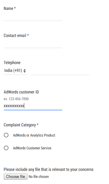 adwords support contact
