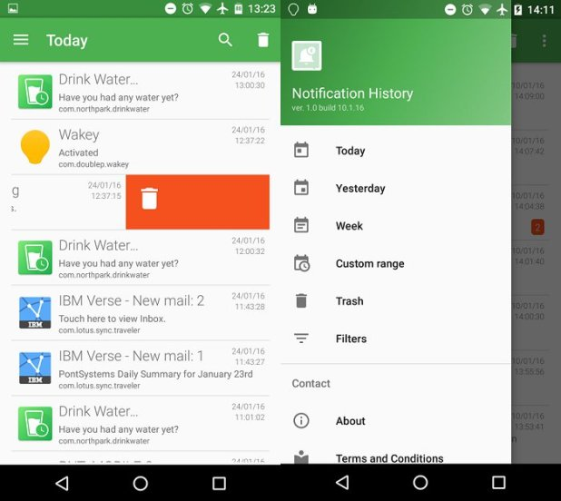 android notification management