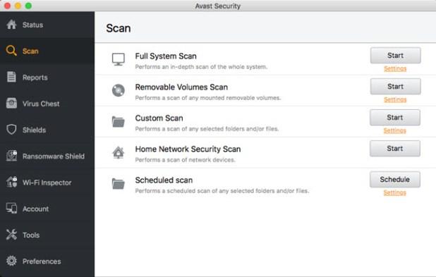 mac antimalware - avast