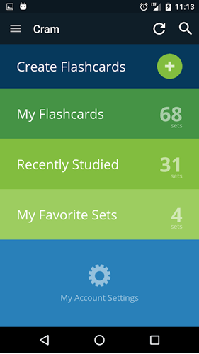 android flashcard app - Cram