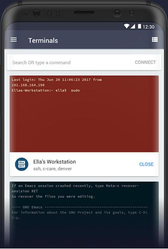 android ssh client - Termius