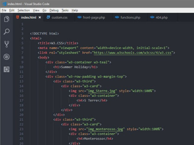 open html editor - visual studio code