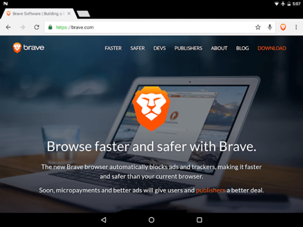 open source android browser - Brave Browser