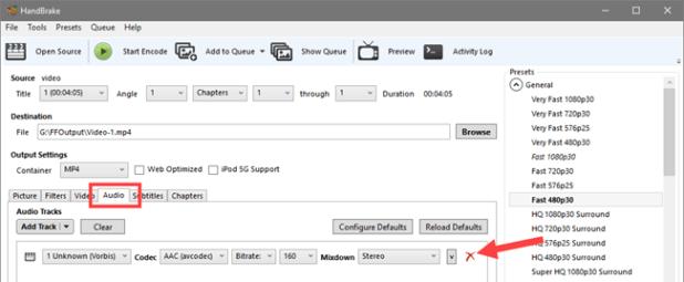 remove audio from video - remove audio steam