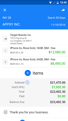 Amazing And Free Invoice App For Android TechWiser - Invoice maker android