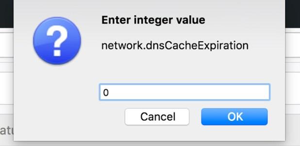 Firefox DNS Cache Expiration