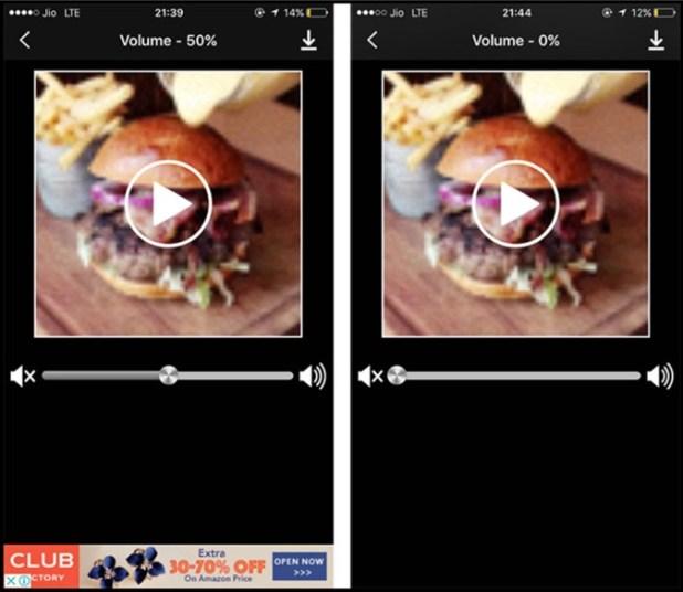 Mute Video iOS