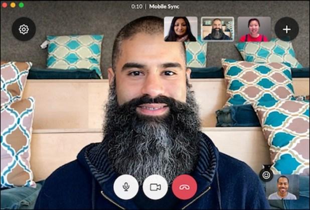 slack group video call
