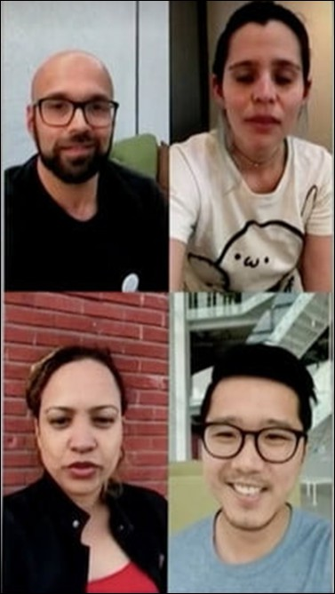 vídeochamada do grupo whatsapp