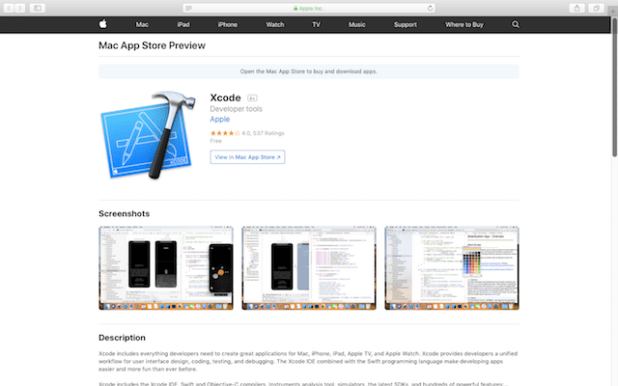 install Xcode from the App Store
