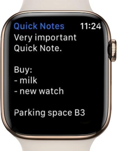quick notes app screenshot