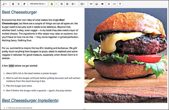Summernote visual editor