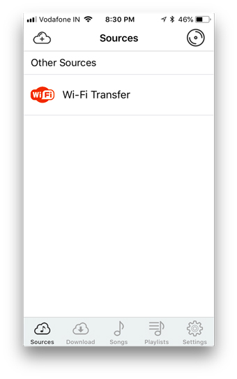 wifi sources cloud player
